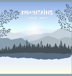 amazing mountains vector image