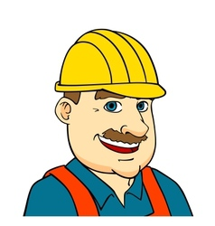 Builder man or engineer vector