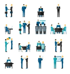 Business men set vector