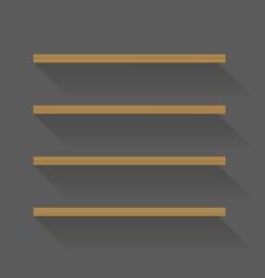 Flat design empty book shelves vector image vector image