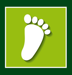 Footprint ecology symbol icon vector