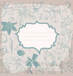 Soft color flowers background vector