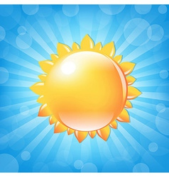 Sun With Sunburst And Bokeh vector image