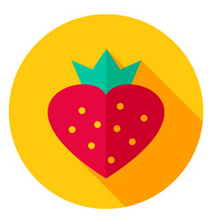 sweet strawberry circle icon vector image vector image