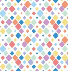 Vintage Diamond Polka Dots Seamless Pattern vector image