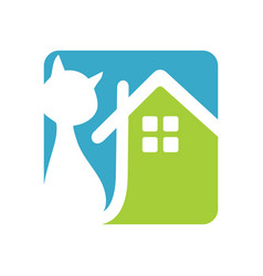 cat house vector image vector image