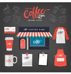 Coffeecafeset10 vector image vector image