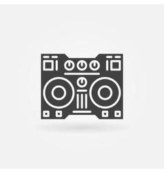 Digital DJ controller icon vector image