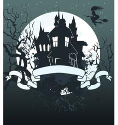 Halloween ribbon background vector image vector image