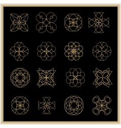 Set of mandalas or geometrical elements for vector image