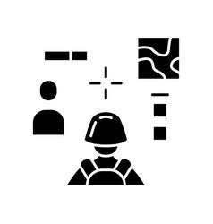 3d shooter glyph icon playvirtual video game vector