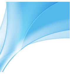 Abstract blue and white wavy background vector image