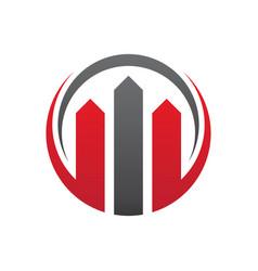 Abstract home building company logo vector