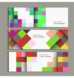 abstract square pattern banner vector image