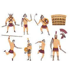 Ancient rome gladiators gladiator roman vector