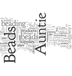 Aunties beads vector