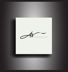 Az signature style monogramcalligraphic lettering vector