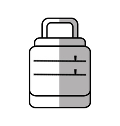 Baggage suitcase travel line shadow vector