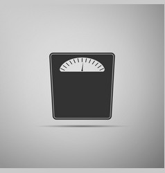 bathroom scales icon isolated on grey background vector image
