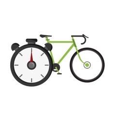bike and chronometer icon vector image