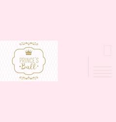 birthday invitation card princess ball greeting vector image
