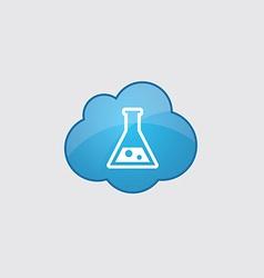 Blue cloud laboratory icon vector
