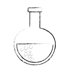 Blurred silhouette glass circular beaker for vector