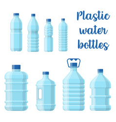 bottle for water or plastic container for aqua vector image