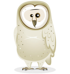 Cartoon barn owl character vector