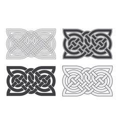 celtic horizontal knot ethnic ornament vector image