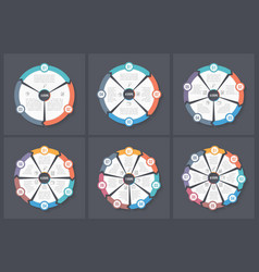 circle infographic templates vector image