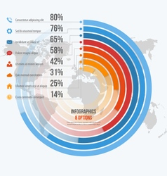 Circle informative infographics 8 options vector