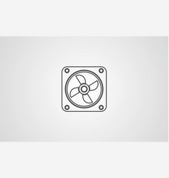 cpu fan icon sign symbol vector image