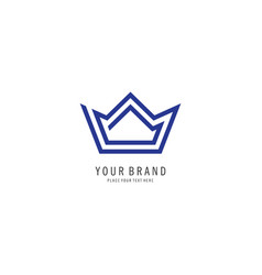 crown line logo vector image