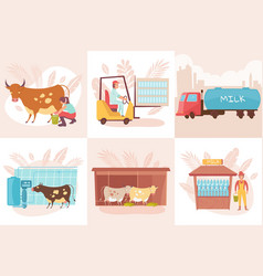 dairy production design concept vector image