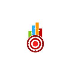 data target logo icon design vector image