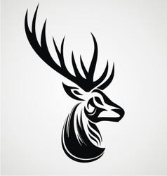 Deer Tattoo Design vector image vector image