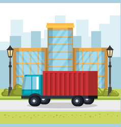 delivery service truck icon vector image
