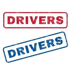 Drivers Rubber Stamps vector