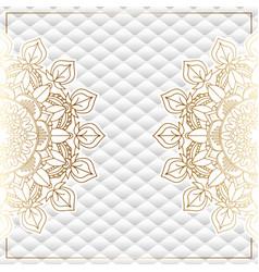 Elegant background with gold mandala design vector
