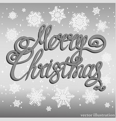 festive silver merry christmas background vector image