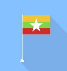 Flag of Burma vector image