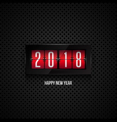 flip board clock 2018 happy new year concept vector image