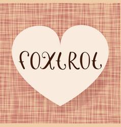 foxtrot dance vector image