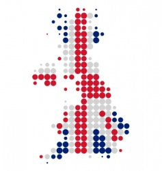 Great Britain map and flag vector