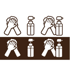 Hand wash alcohol disinfection icon cartoon vector