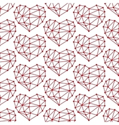 Hearts low poly seamless vector