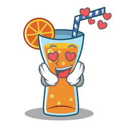 In love cocktail character cartoon style vector