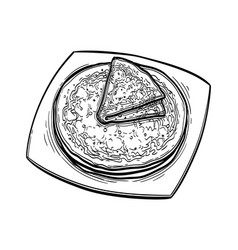ink sketch crepes vector image