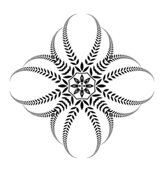 Laurel wreath tattoo Black ornament Cross sign vector